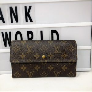 Louis Vuitton Sarah Trifold Monogram Long Wallet